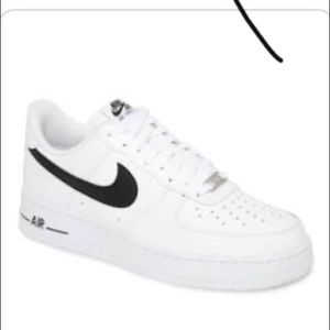 Black and white air force ones